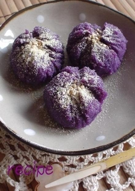 和スイーツ 紫芋の菖蒲きんとん