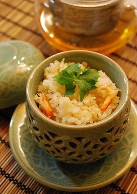 蟹缶de炊き込みご飯