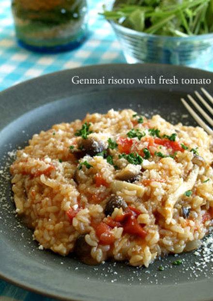 実は簡単 玄米トマトリゾット