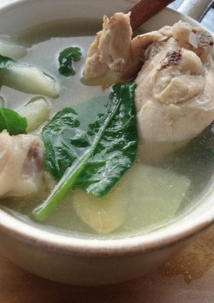 セブ料理 ほろほろチキンの生姜スープ