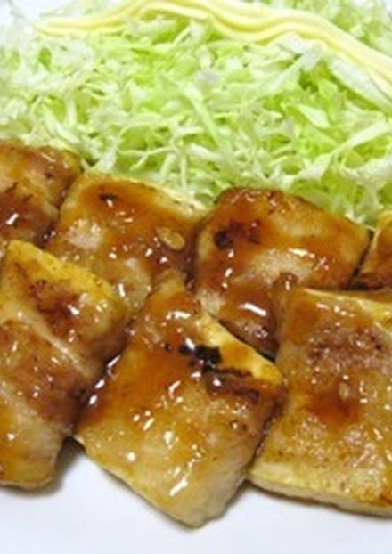 豆腐と豚バラ くるくる照り焼き