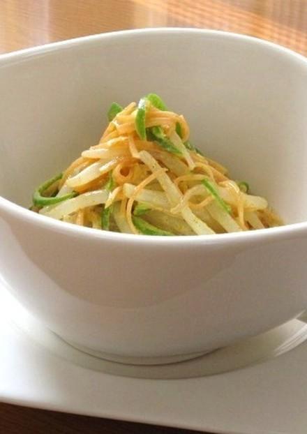∮もやしと彩り野菜ღカレーマヨサラダ∮