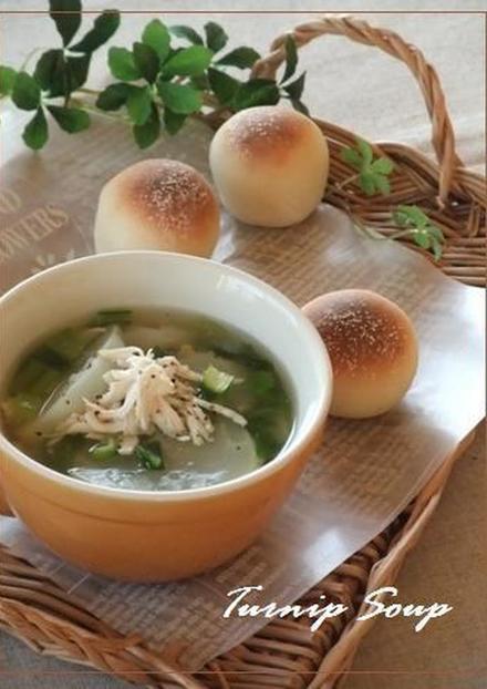 あっさりヘルシー かぶとささみのスープ