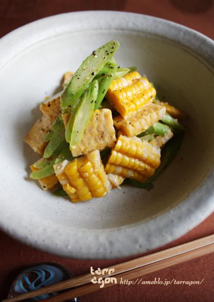 アスパラコーンのタバスコ味噌マリネ