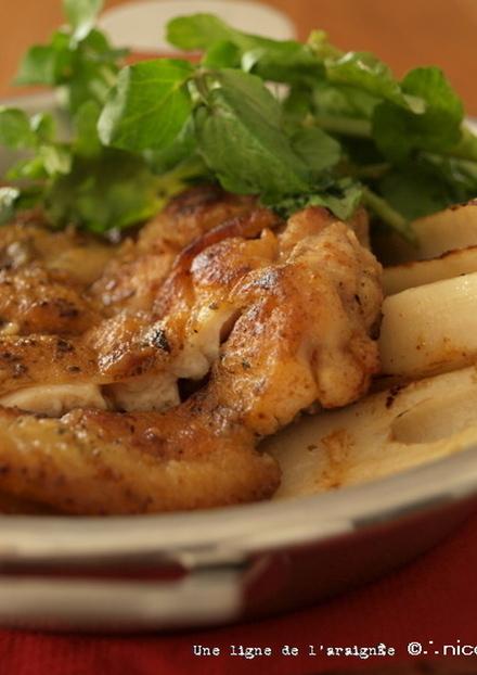 鶏の黒七味焼き焦がしマヨ醤油。