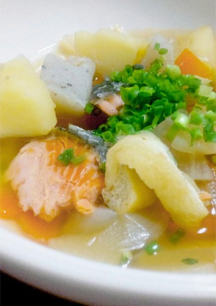 楽ちん 秋鮭の具だくさん味噌汁 石狩汁