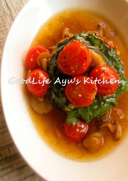 高野豆腐と鶏ささみの生姜あんハンバーグ