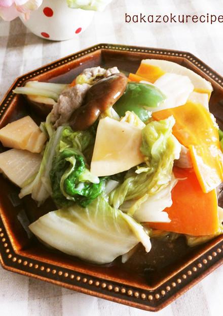 一番簡単。八宝菜
