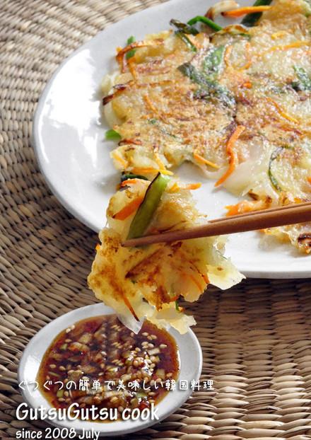 韓国料理じゃがいものチヂミ カムジャジョン