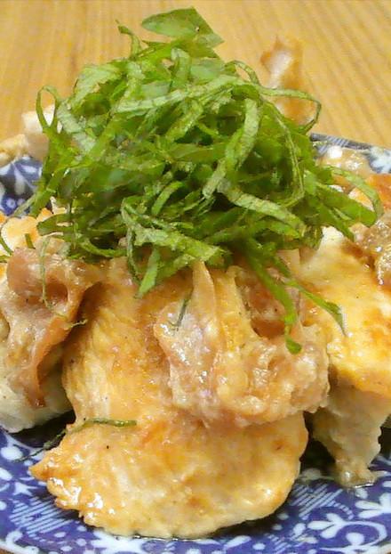 やわらかい 鶏胸肉の梅マヨネーズ焼き