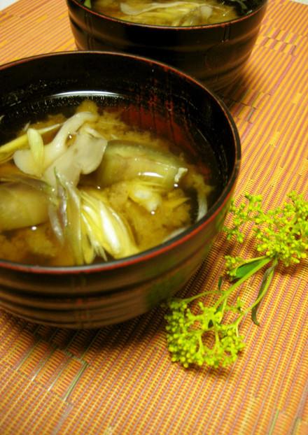 簡単☆秋を感じる舞茸と茄子のお味噌汁