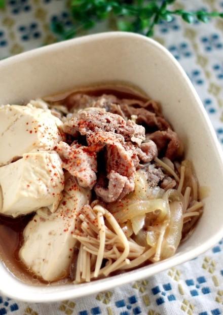 めんつゆだけで 簡単すぎるお手軽肉豆腐