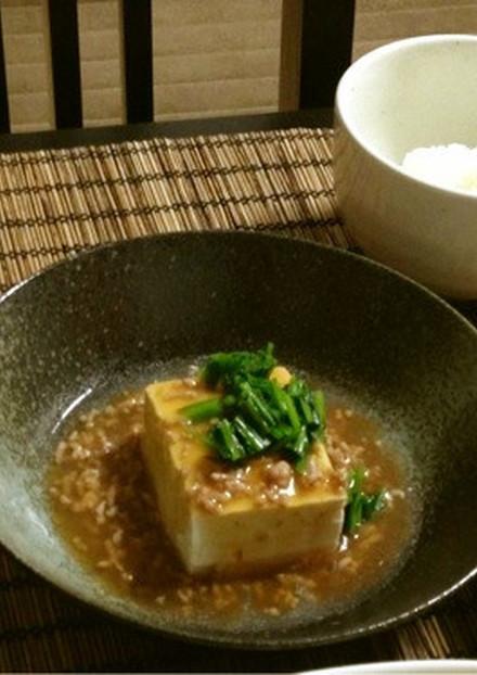 豆腐のそぼろあんかけ