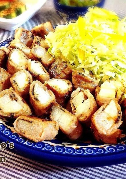 長芋の味噌肉巻き