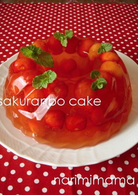 *さくらんぼのゼリーケーキ*