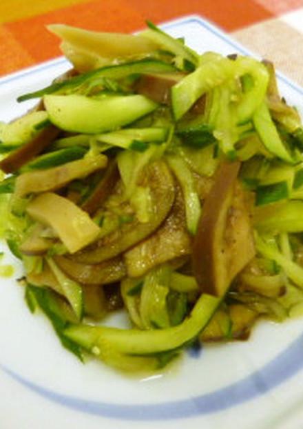 搾菜と野菜の中華風和え