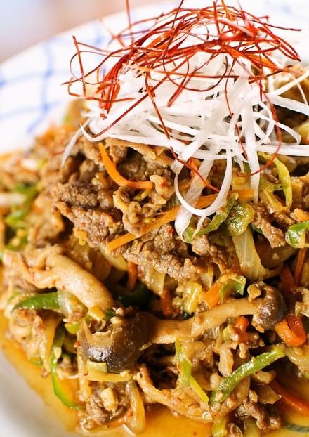 ごはんすすむ お野菜たっぷりプルコギ