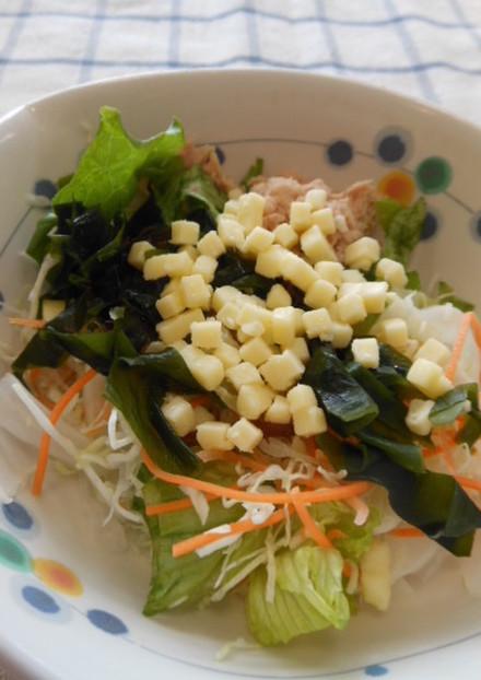 チーズ入り☆海藻サラダ