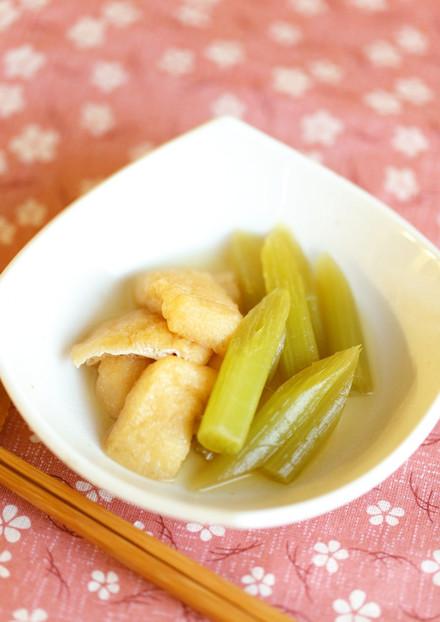 塩分控えめ 蕗とおあげの煮物