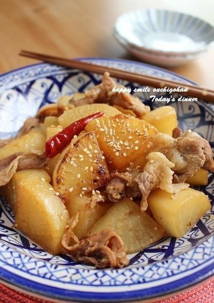 THE定番!!大根と豚肉の甘辛こっくり煮