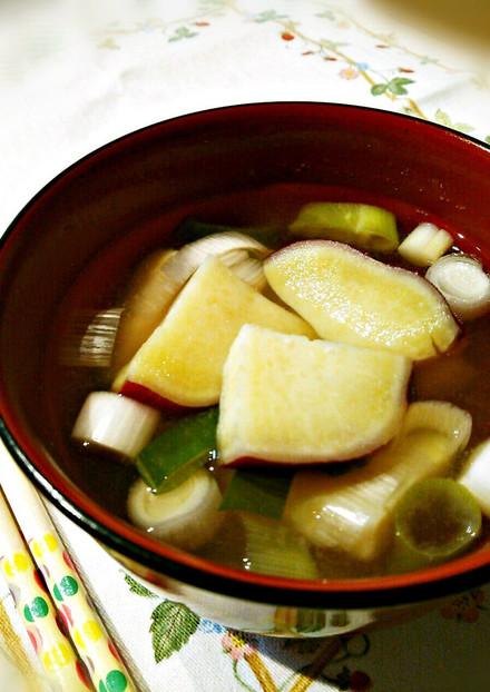 我が家の味噌汁♡さつまいもと長葱