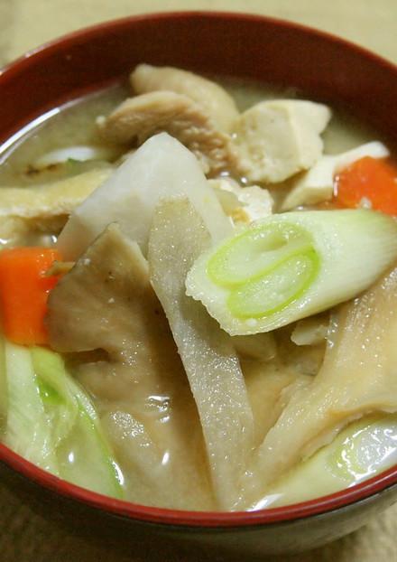 芋の子汁(里芋の味噌汁)