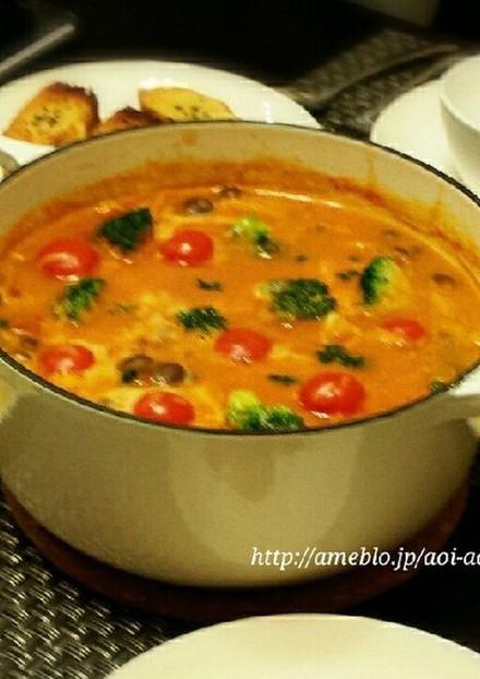 トマトクリームシチュー鍋