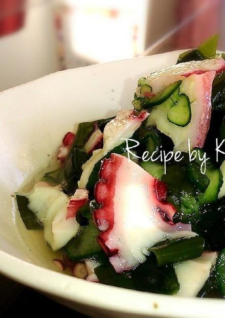 定番副菜 たこと胡瓜とわかめの酢の物