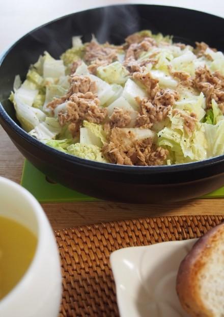 レンジで簡単 白菜とシーチキンの蒸し煮