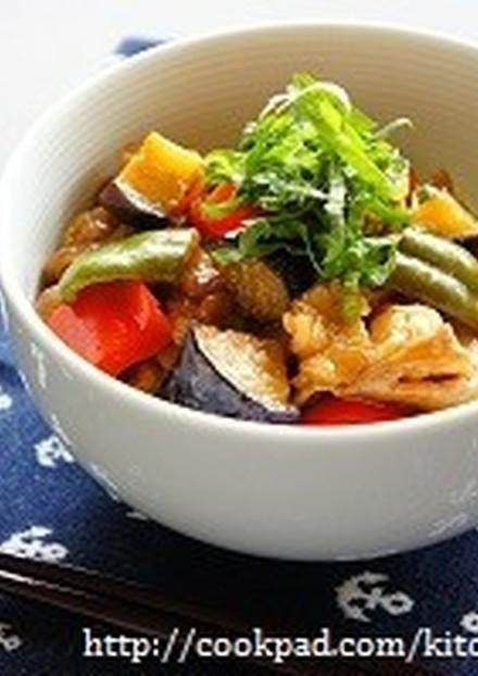 お酢でさっぱり 豚肉と夏野菜の南蛮丼