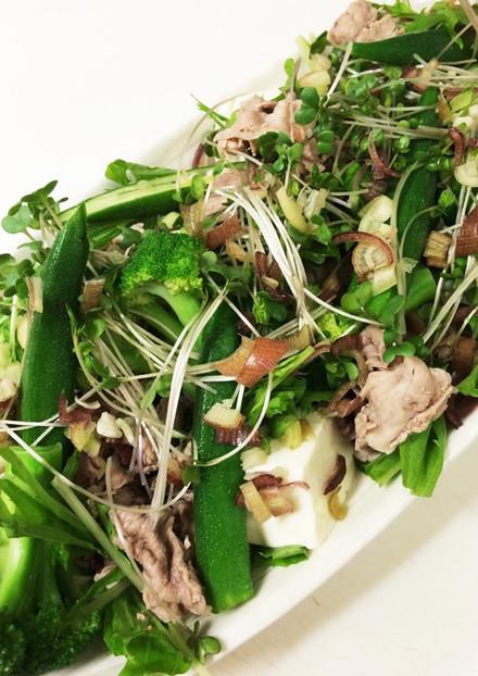 豆腐入り豚 冷しゃぶサラダ