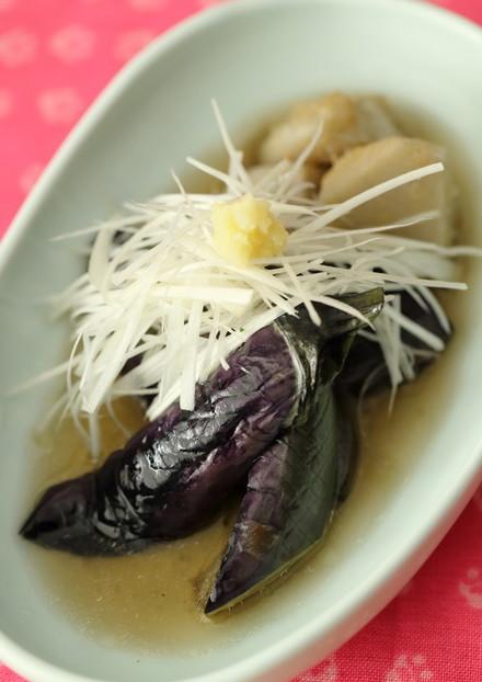 揚げ茄子と里芋の煮物