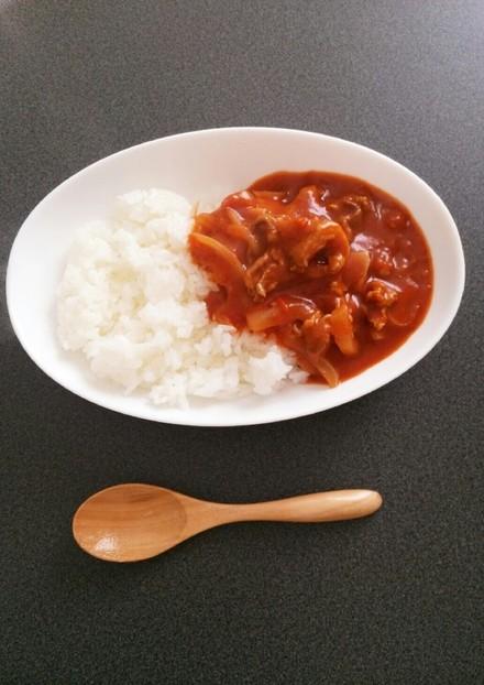 簡単 ルウ不要 トマト缶でハヤシライス