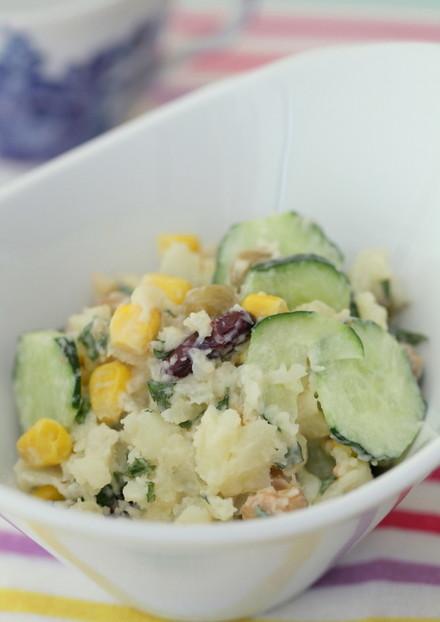 新じゃがとお豆の梅風味サラダ