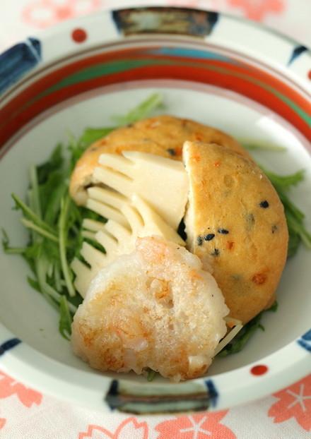 手作りえび団子の炊き合わせ含め煮