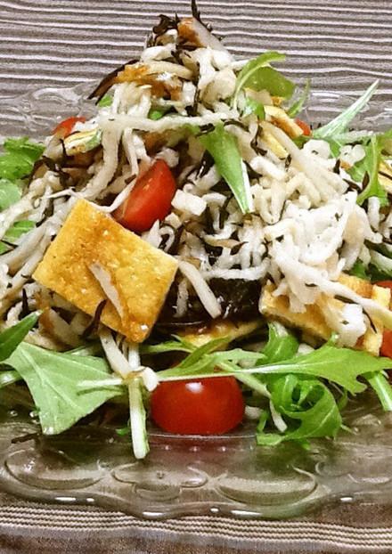 隠し味はさつま揚げ 切り干し大根のサラダ