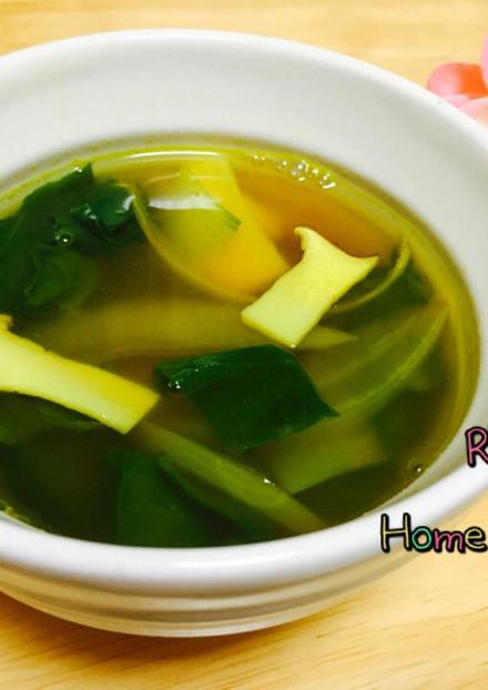 青梗菜とエリンギのオニオンカレースープ♡
