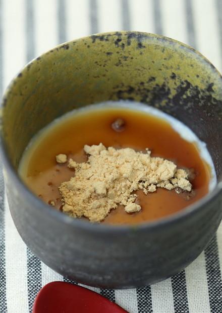 お豆腐のなめらかムース❁黒みつきな粉で