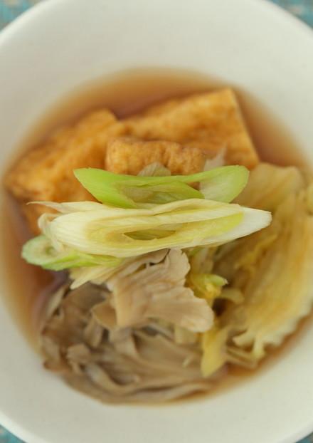厚揚げ白菜のとろっとあっさり煮