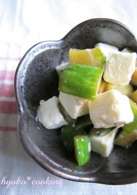 クリームチーズときゅうりの中華和え