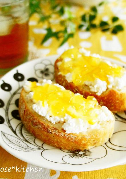 カッテージチーズ&マーマレードトースト