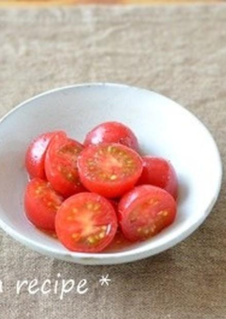 トマトのハチミツ生姜マリネ