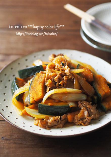 お弁当にも かぼちゃと豚肉の生姜焼き