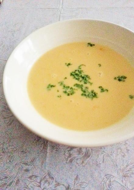 材料3つだけ簡単コーンクリームスープ