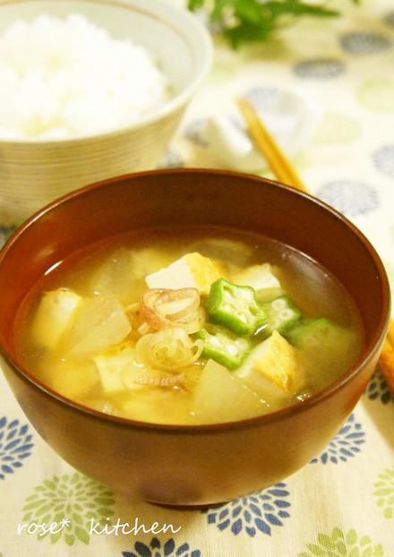 冬瓜と厚揚げのお味噌汁