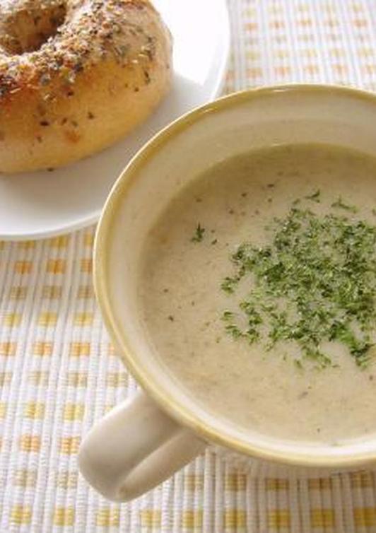 手軽にできるしめじのミルクスープ