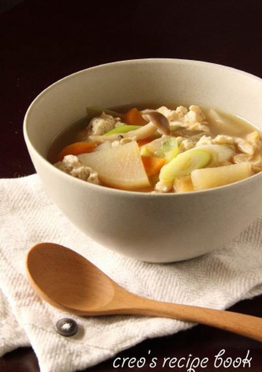 簡単 けんちん汁風スープ