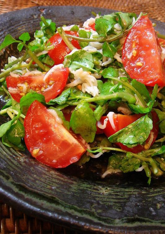 クレソンとトマトのサラダ