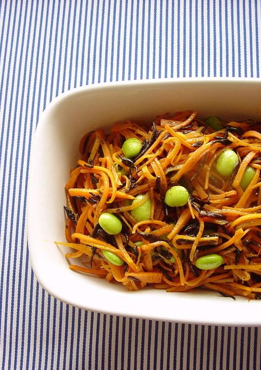 ニンジンとひじきのカレー風味常備菜