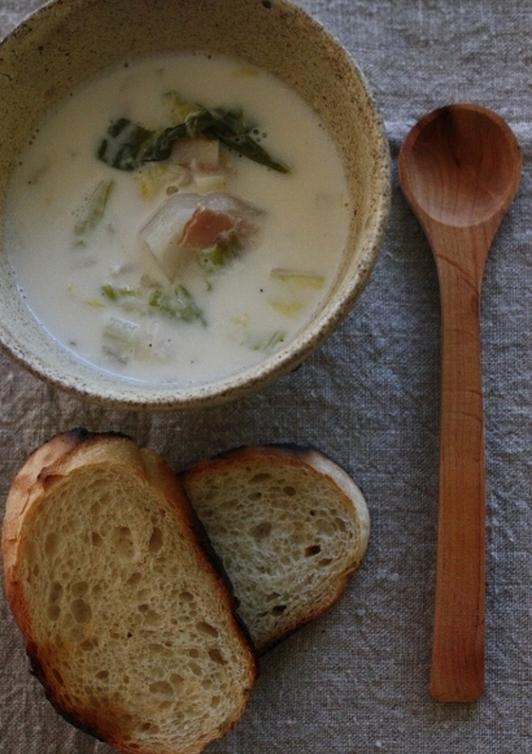 カブと白菜のミルクスープ